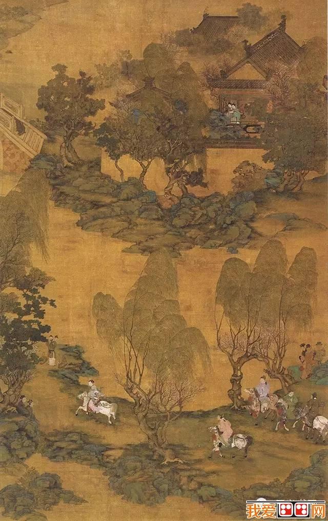仇英青绿绘画作品赏析之六-明代画家仇英山水画作品赏析 6