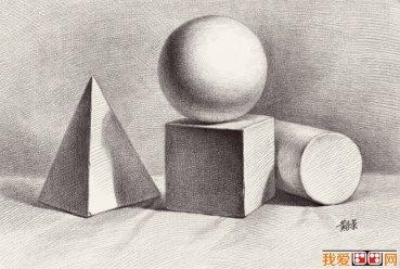素描几何体-8副石膏几何体素描作品高清图片(8)