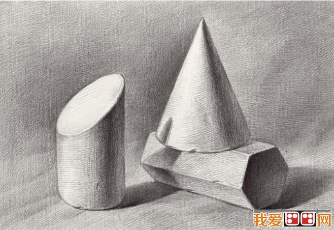 静物素描石膏几何体需要注意的六个问题