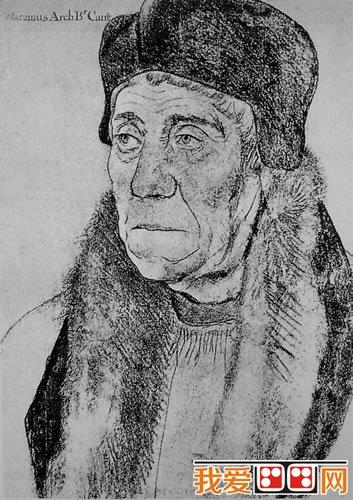 荷尔拜因人物头像素描作品欣赏(2)