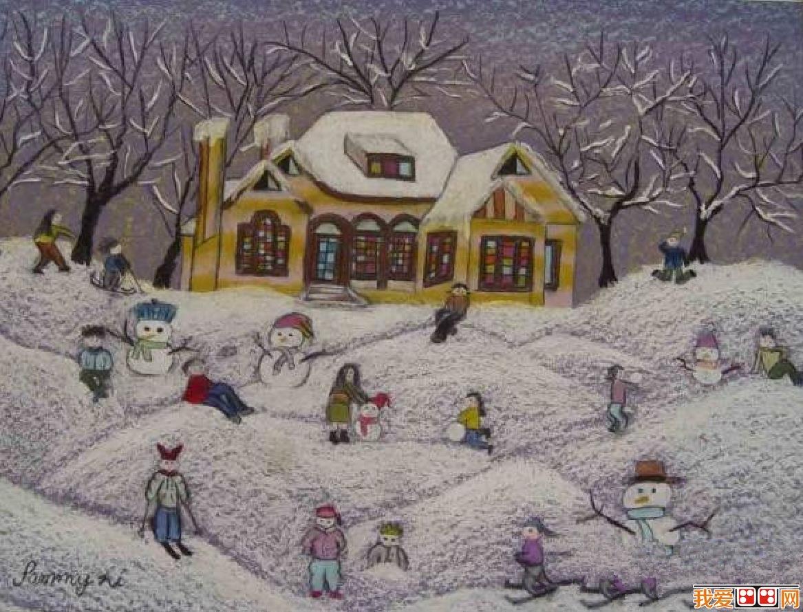 国外儿童风景画作品欣赏