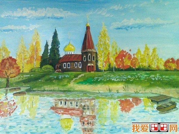 学画画 儿童画教程 儿童画欣赏 > 国外儿童风景画作品欣赏      秋天