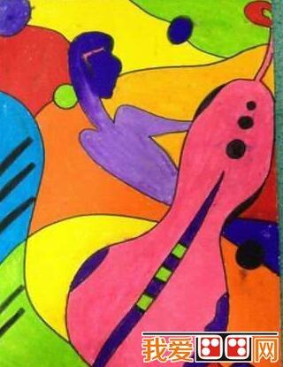 抽象的儿童绘画作品