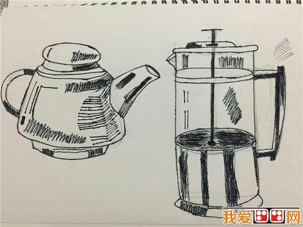 儿童画线描作品欣赏(2)图片