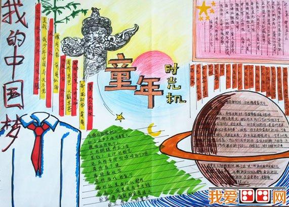 学画画 儿童画教程 手抄报 > 中国梦主题小学生手抄报作品欣赏(3)