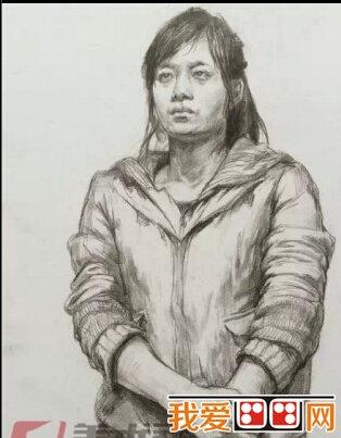 清华美院2014年素描半身高分试卷二   人物素描的步骤和画