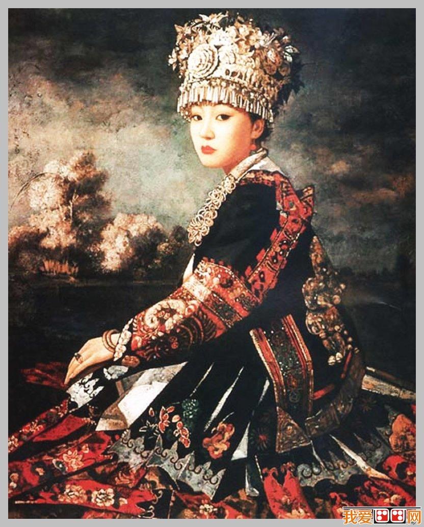 王俊英少数民族人物油画作品赏析(5)