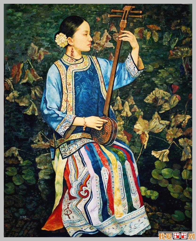 王俊英人物肖像油画作品赏析之六-王俊英少数民族人物油画作品赏析