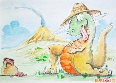 儿童画欣赏:海底世界_儿童画教程_学画画_我爱画画网
