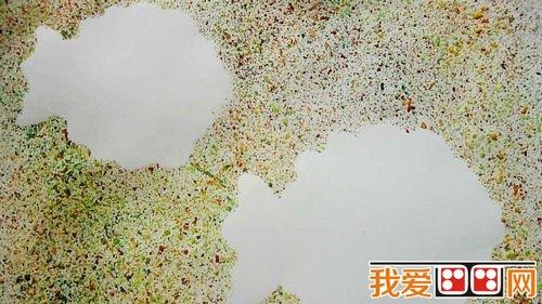 喷画在幼儿美术活动中的应用图片