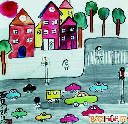儿童交通安全书画在滨州市政大厅展出图片