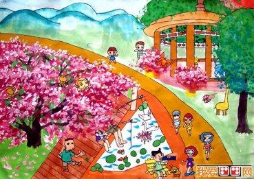 拓印画-美丽的花园_画画大全图片