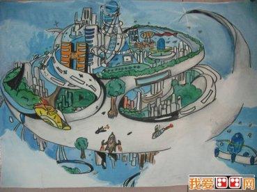 天空之城科幻画图片