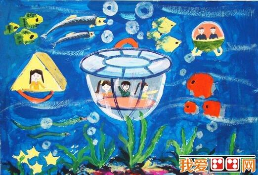 神秘的海洋世界科幻画作品欣赏(6)