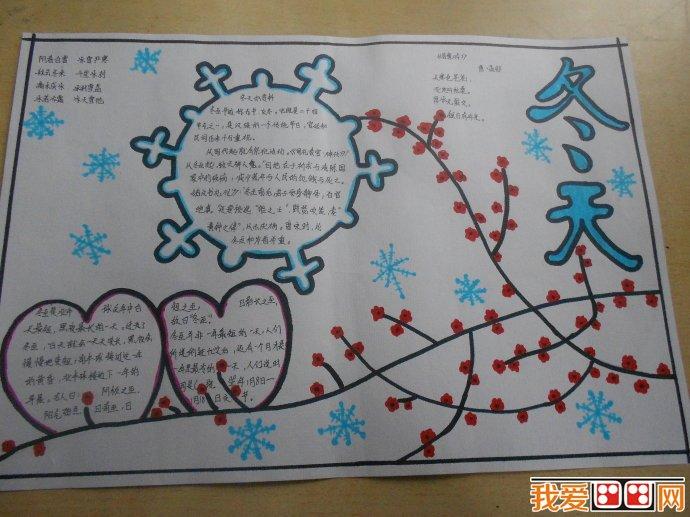 冬天主题手抄报作品欣赏(2)