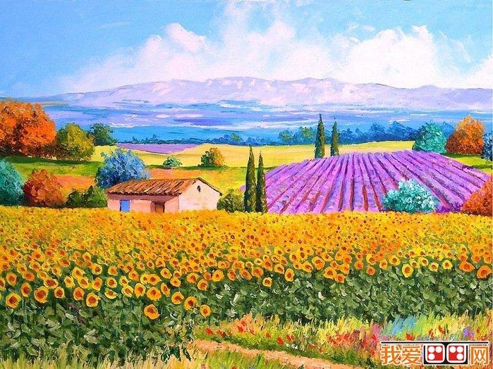 法国现代画家jean-marc普罗斯旺风景油画欣赏