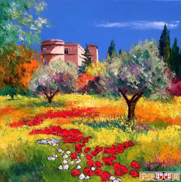 法国现代画家jean-marc普罗斯旺风景油画欣赏(4)_画画