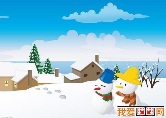 冬天卡通房子图片欣赏(6)图片