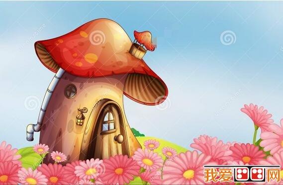 蘑菇房卡通画欣赏_51自学网