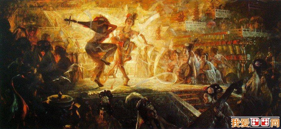 王可伟古代战争油画作品赏析(3)_油画教程_绘画教程