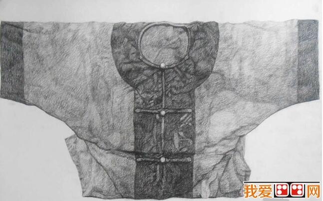 杨多思素描古装衣服图片