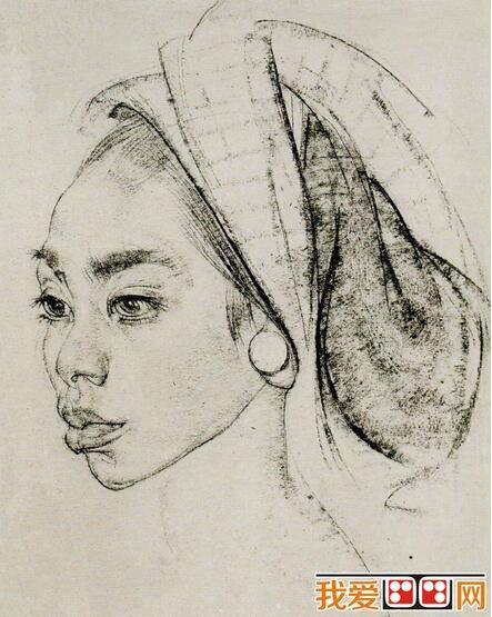 尼古拉·菲钦人物头像素描作品欣赏(6)