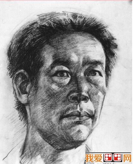 男性人物肖像素描头像(3)