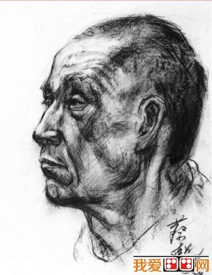 男性人物肖像素描头像(4)
