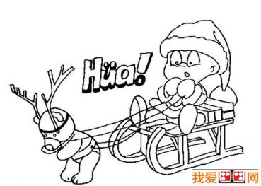 圣诞老人简笔画作品欣赏