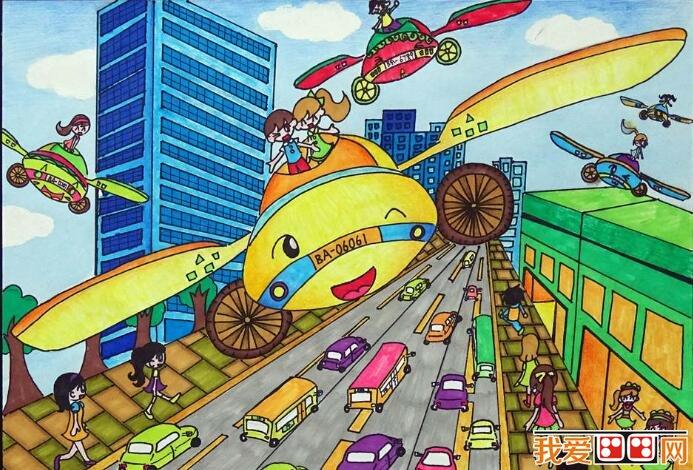 学画画 儿童画教程 科幻画 > 科幻画作品:未来交通工具科幻画欣赏