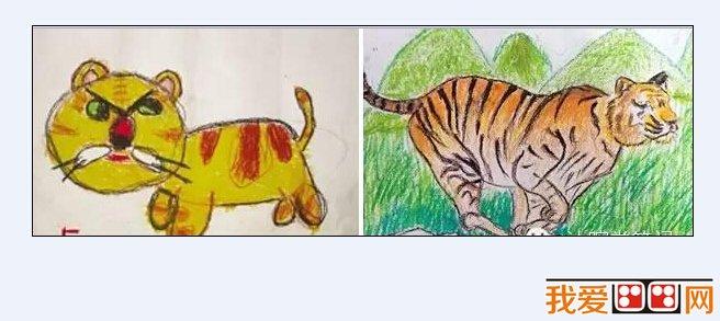 就像现在让三岁的小孩子画个老虎,他拿起笔就能画个老虎.图片