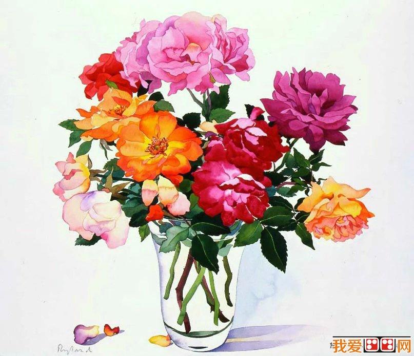 英国艺术家克里斯托弗ryland水彩花卉赏析_水粉画教程
