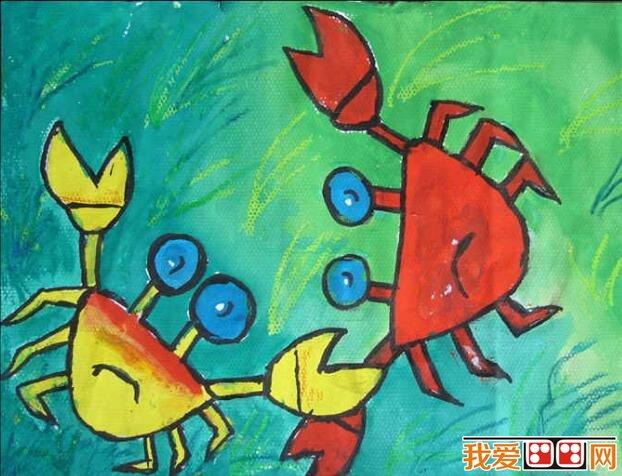 超萌的个性小动物水彩画作品欣赏