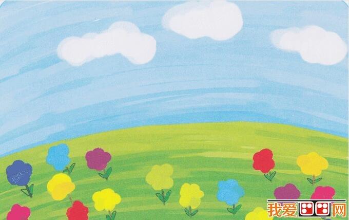 儿童水粉画花朵图片作品欣赏图片