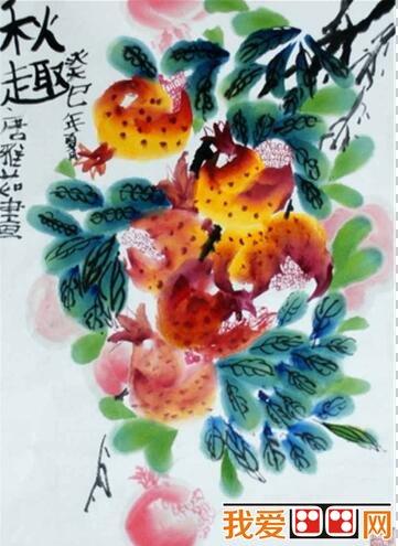 儿童画中国画 花卉作品欣赏