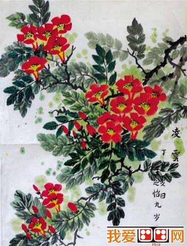 儿童画中国画 花卉作品欣赏 2