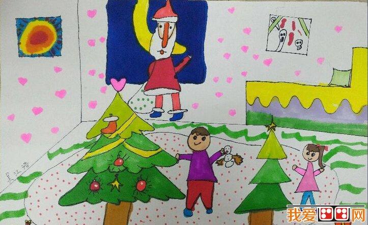 圣诞节的时候圣诞老人和她的小伙伴麋鹿先生们虽然为了给小朋友们送礼物,而到处奔波,很是劳累。但是他们一点儿也不觉得苦恼,反而是会很高兴呢。因为有很多的时候,给予比得到更能让人感到高兴。圣诞老人和麋鹿给小朋友们送礼物的时候,他们自己也会觉得那是很开心的一件事情呢。  儿童画:圣诞树上的老人 圣诞节来了,圣诞老人给小朋友们准备了满满的一树的圣诞礼物等着小朋友们呢。小朋友们在圣诞节前一天的时候,睡觉之前一定要准备好红袜子哦,不要因为一不留神就错过了圣诞老人的礼物,不然的话想要收到礼物就只有等到明年的圣诞节才会有可