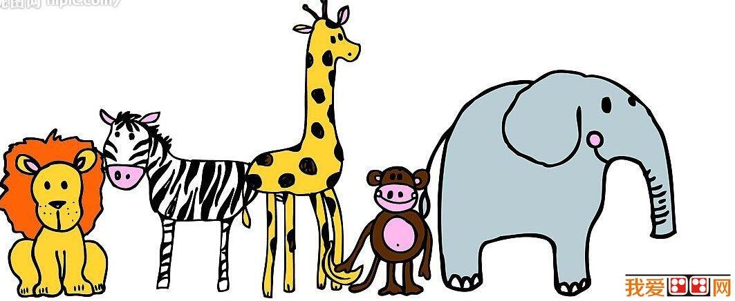 动物线描 长颈鹿