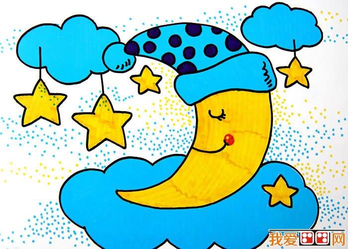 儿童画月亮 月亮卡通画欣赏