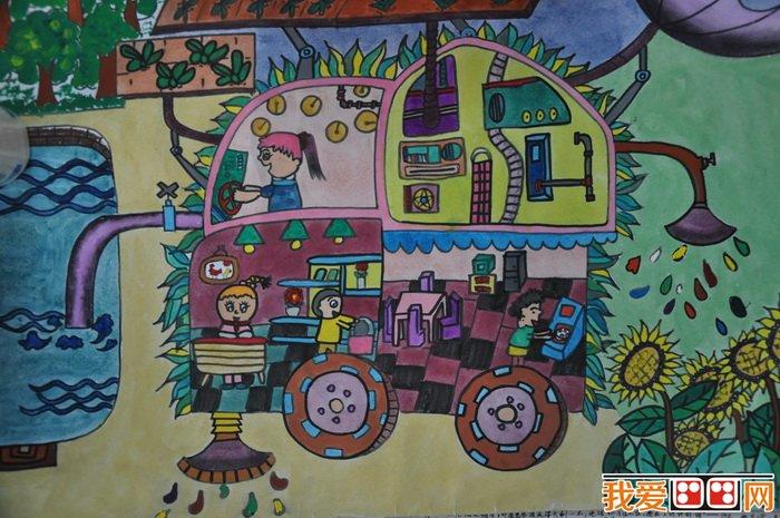 节约用水儿童画作品欣赏图片