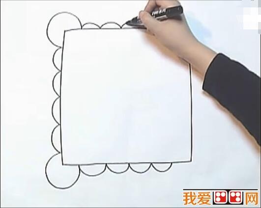 手帕儿童画画教程