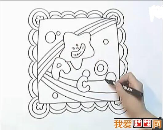 漂亮的儿童画手帕教程详解