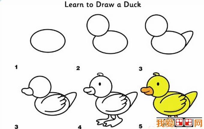 小动物简笔画技法 儿童画教程 学画画 我爱画画网