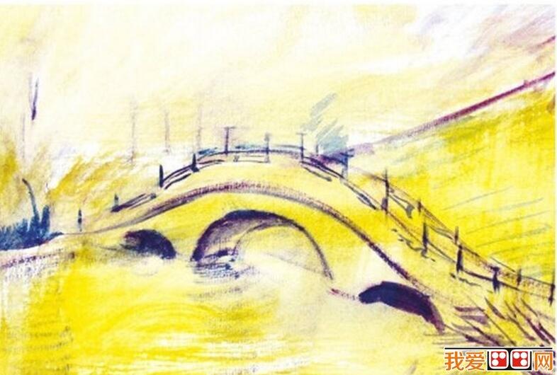 水粉画教程:水粉拱桥的画法