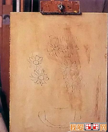 儿童简单花朵画画
