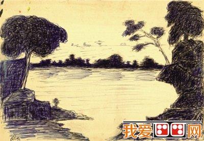 印度风景图五年级画画