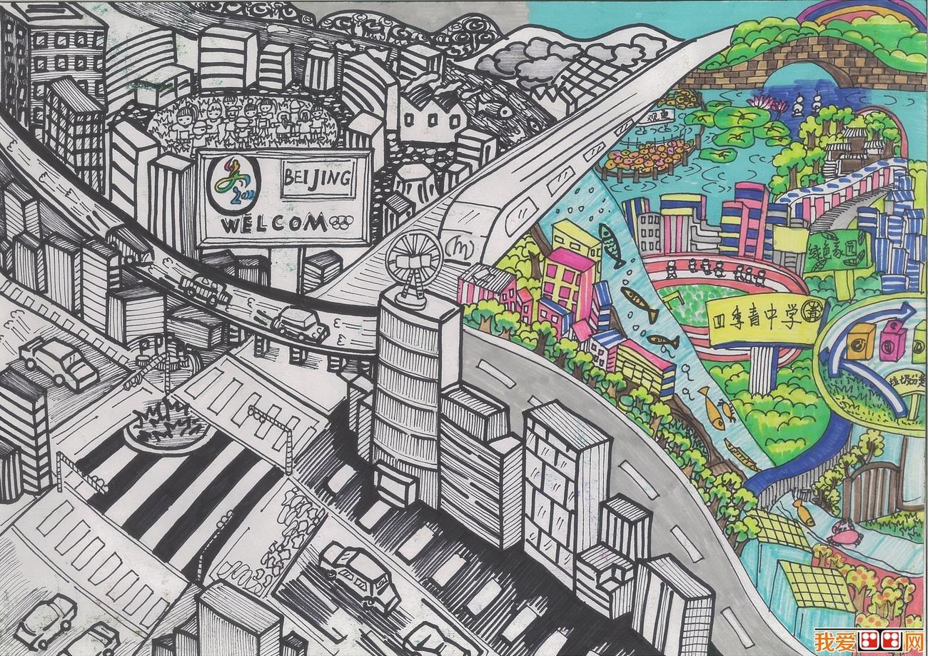 """:大滴眼泪润万物 本次绘画大赛旨在向中小学生传播环保知识、鼓励学生采取环保行动,并展示他们的环保理念和行为。通过""""环保绘画大赛""""活动,使中小学生学习环保知识,观察和思索环保解决方案,参与到环保活动中来,并发挥想象力,用艺术的手段把环保理念和行为表现出来。  中小学生环保绘画作品:桃园公交  中小学生环保画作品:return my heaven"""