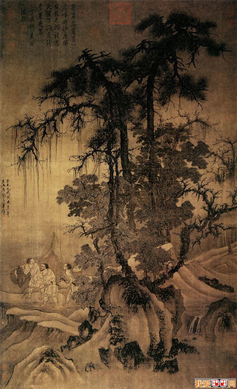 百科 著名画家 中国古代画家 > 元代画家唐棣国画山水作品欣赏图片