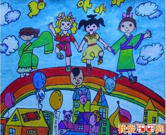 元旦图画儿童画-儿童水墨画欣赏