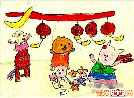 元旦节儿童绘画:庆元旦儿童画欣赏